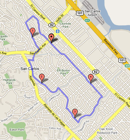 Five Miles Around Map
